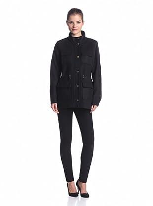 Calvin Klein Women's Cinch Waist Coat (Birch)