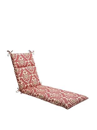 Waverly Sun-n-Shade Meridian Henna Chaise Lounge Cushion (Red/Brown/Tan)