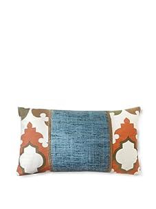 "Jiti Turkish Tiles Pieces 12"" x 20"" Pillow (Aqua Multi)"