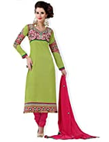 atisundar cute Pista Green Traditional Semi Stitched Straight Cut Salwar Kameez- 5278_32_207