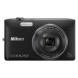 Nikon Coolpix S3500 20.1MP Point and Shoot Camera (Black) with 7x Optical Zoom, 4GB Card and Camera Case