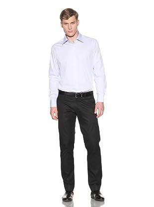 Valentino Men's Dress Shirt (Lt Blue/White Stripe)