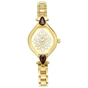 Sonata Wedding Analog Multi-Color Dial Women's Watch - 8063YM06
