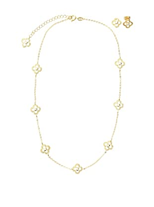 Frida Girl Gold Necklace and Earrings Set