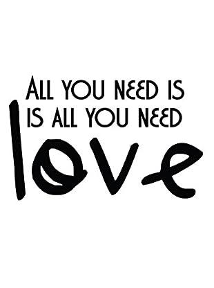 Ambiance Live Wandtattoo You need Love schwarz