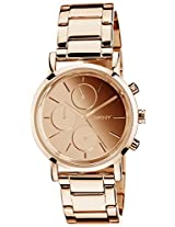 DKNY Analog Gold Dial Women's Watch - NY8862I