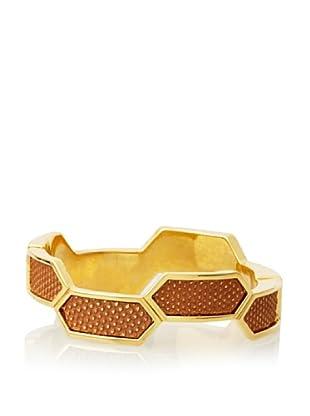 Kara Ross Chestnut Gold Hexagon Bracelet