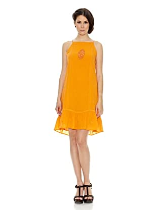 Janis Vestido Tirantes Bordado (Naranja)