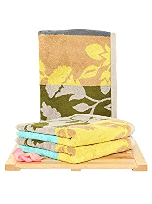 Maisonette Fenja 3-Piece Hand Towel Set, Mustard