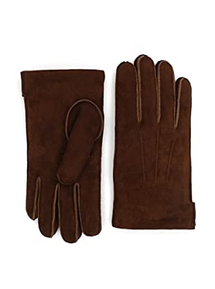Portolano Men's Faux Fur-Lined Gloves (Bark/Brown)