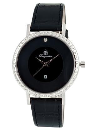 Burgmeister Umbria BM601-122s/s Damen Uhr Edelstahl schwarz Datum Swarovski-Kristalle Leder schwarz