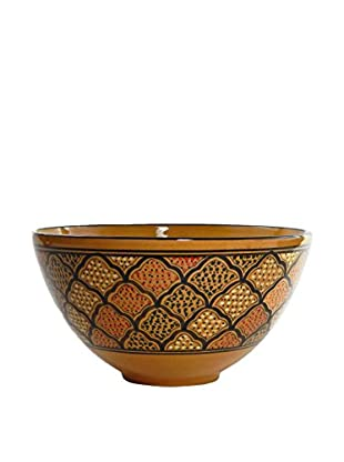 Le Souk Ceramique Honey Deep Salad Bowl, Honey/Brown