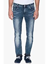 Washed Blue Skinny Fit Jeans Mufti