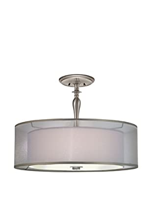 Lite Tops Silhouette Semi Flush, Satin Nickel