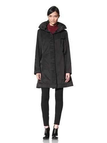 Rainforest Women's Ruched Raincoat (Black)