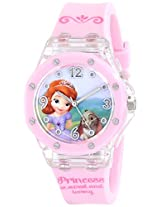 Disney Kids' SOF1454 Light-Up Sofia the First Watch with Pink Band