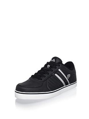 Fila Men's G300 Sarasota Sneaker (Blk/White/Metallic Silver)