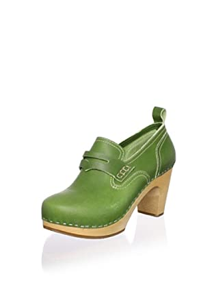 Swedish Hasbeens Women's Loafer Pump (New Green)