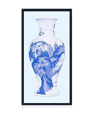 Lillian August Asian Vase in Blue