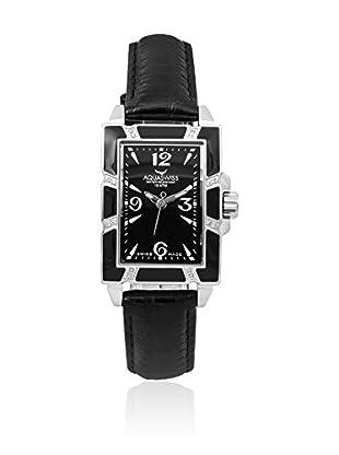 Aquaswiss Uhr mit Schweizer Quarzuhrwerk AVL schwarz