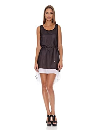 Assuili Vestido Crepe (Negro / Hueso)