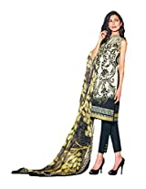 CrazeVilla women lawn cotton faraz manan eid straight suit (Black_Free Size)
