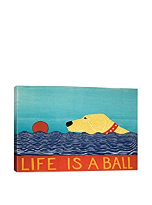 Stephen Huneck Life Is A Ball Gallery Wrapped Canvas Print