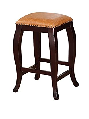 Linon Home Décor San Francisco Square Top Counter Stool, Wenge Finish
