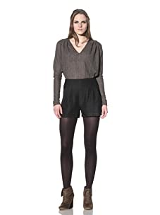 Rogan Women's Mikiri Pleated Short (Charcoal)