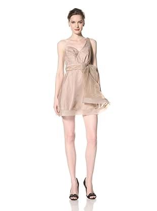 ABS by Allen Schwartz Women's One Shoulder Bow Dress (Tan)