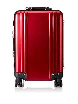 ZERO Halliburton Classic Aluminum Carry On 4-Wheel Spinner Travel Case, Red