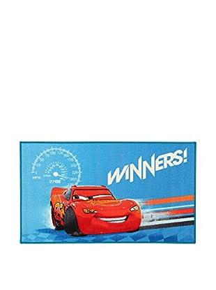 Disney Teppich Disney A.L. New Cars Winners  himmelblau/rot 80 x 140 cm