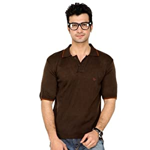 Classic Polo Brown Half Sleeves Men - Collared T-Shirts