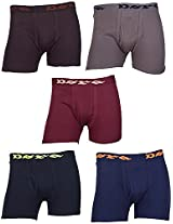 Dora Men's Cotton Brief (Pack of 5, Brown, Grey, Maroon, Black And Blue, 100)