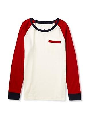 Burton Camiseta Larga Keel Knit Top (Blanco / Rojo)