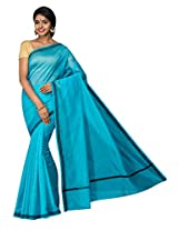 Korni Cotton Silk Banarasi Saree TF-1035- Blue KR0422