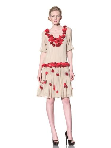 Just Cavalli Women's Floral Dress (Beige)