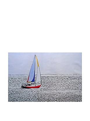 Legendarte Pintura al Óleo sobre Linezo Relax In Barca A Vela 60X90