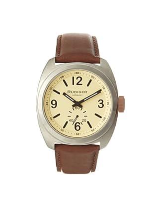 Rudiger Men's R5000-04-013.7 Siegen Brown & Beige Leather Watch