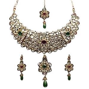 Golden heavy Necklace Set