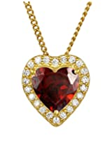 Exxotic Designer 24k Gold Plated Silver Heart Pendant For Girls & Women