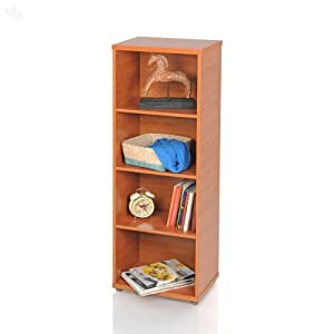 Cabinet with Cherry Finish and 4 Shelves - Flamingo