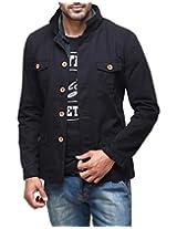 Yepme Men's Black Cotton Jacket-YPMJACKT0173_XXL