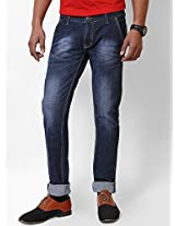 Goyal Denim Men's Basic Blue Denim Jeans