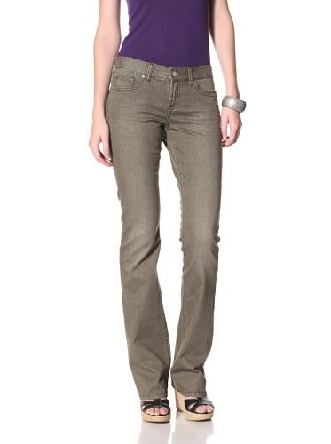 Henry & Belle Women's Ideal Bootcut Jean with Flap (Light Moss)