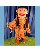 "Sunny Toys 28"" American Indian Girl In Brown Costume Hand Slit Puppet"