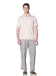 Perry Ellis Men's 3-Button Polo Shirt (Sandbar)