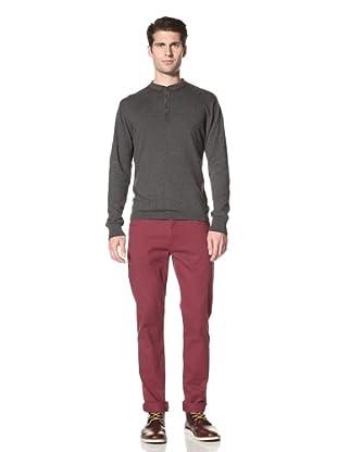 Marshall Artist Men's Long Sleeve Golf Polo Shirt (Charcoal)