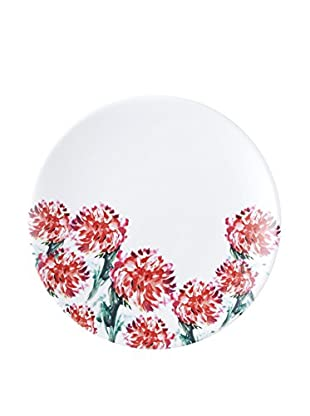 Q Squared NYC Madison Bloom Lite Melamine Salad Plate, Red/Green