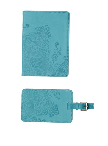 Mudlark Artifact Collection Passport Cover and Luggage Tag, Turquoise